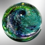Pet Remembrance Glass Sphere is available in small and large sizes.